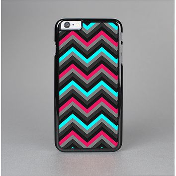 The Sharp Pink & Teal Chevron Pattern Skin-Sert Case for the Apple iPhone 6