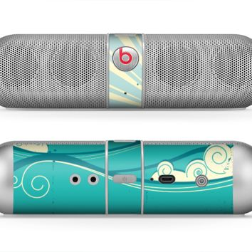 The Retro Vintage Vector Waves Skin for the Beats by Dre Pill Bluetooth Speaker