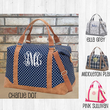 Monogrammed Weekender Bag, Monogrammed Duffle Bag, Personalized Overnight Bag, Christmas Gifts, Bridesmaid Gift, Gifts for Her