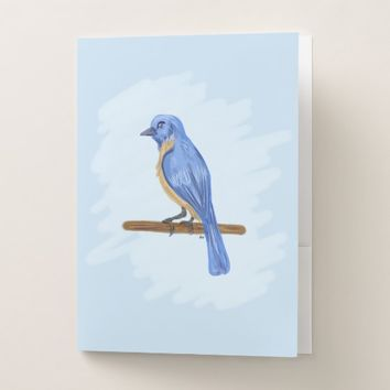 Blue Bird Pocket Folder
