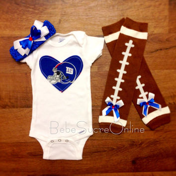 Giants Bodysuit Headband and Leg Warmers