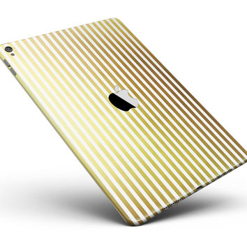 """The Golden Vertical Stripes Full Body Skin for the iPad Pro (12.9"""" or 9.7"""" available)"""