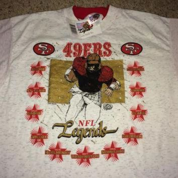 PEAPYD9 Sale!! Vintage San Francisco 49ers Shirt NFL Legends football jersey Made in USA