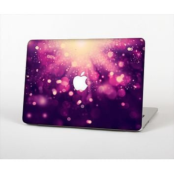 The Dark Purple with Desending Lightdrops Skin Set for the Apple MacBook Air 11""