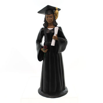 Black Art Female Graduate Figurine