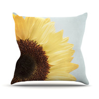 "Susannah Tucker ""Sunshine"" Sunflower Throw Pillow"