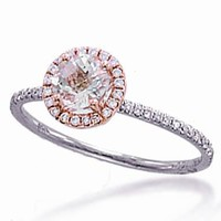 Meira T 14K White & Rose Gold Morganite Diamond Engagement Ring