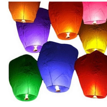 Sky Lanterns Chinese Paper Sky Candle Fire Balloons for Wedding Party [7981853447]