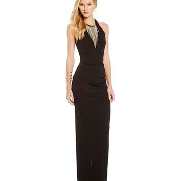 Nicole Miller Collection Adel Stretchy Matte Jersey Gown | Dillards