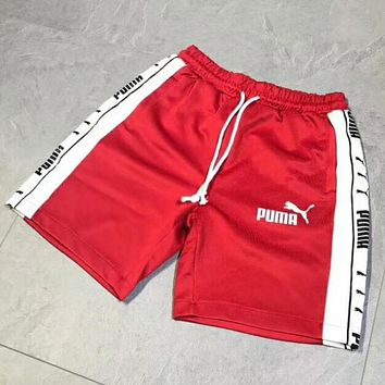 PUMA Trending Women Men Stylish Print Sport Running Shorts Red I-YF-MLBKS