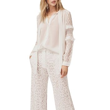 Comino Frill Sleeve Button Up