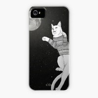 """Cat trying to catch the Moon"" - Phone Case by Barruf"