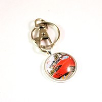 General  Lee 1969 Dodge Charger Muscle Car Hot Rod Vintage Car Key Chain Ring