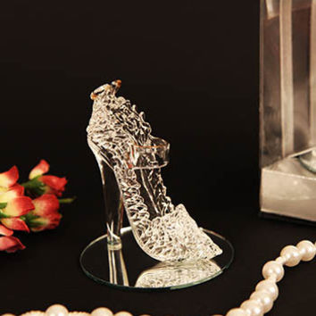Cinderella's Slipper Crystal Shoe Figurine