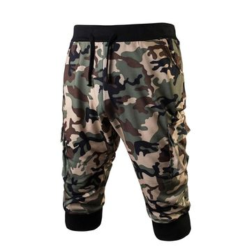 Mens Sportswear Gym Fitness Jogging Stretchy Bodybuilding Sweatpants Camo