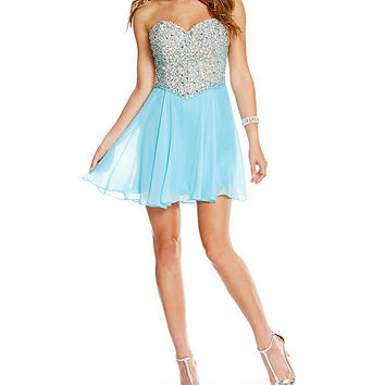 Savannah Nights Beaded Sweetheart Bodice Party Dress | Dillards