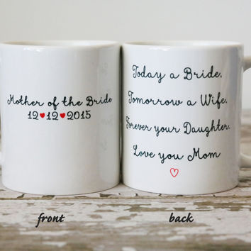 Mother Of The Bride Mug Wedding Gift For Mom