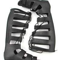 WEB EXCLUSIVE: Milano Leather Gladiator Sandals in Black