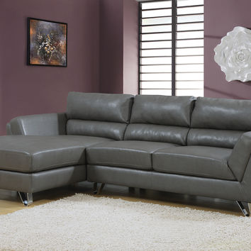 Charcoal Grey Bonded Leather / Match Sofa Lounger