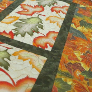 Quilted Fall Table Runner - Leaves of Autumn 500