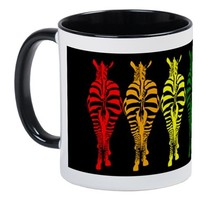 TECHNICOLOR DREAM (ON BLACK) MUGS