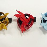 The Hunger Games Symbols Hair Clip Set (Hair Ribbon Sculptures)