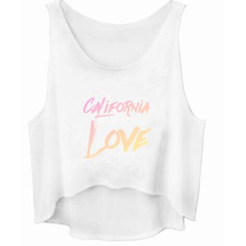 California Love Cropped Tank Top