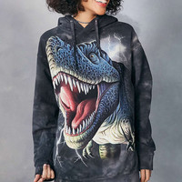 The Mountain T-Rex Tie-Dye Hoodie Sweatshirt - Urban Outfitters