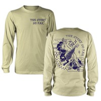 Skull Panther Cream Long Sleeve Shirt : PNE0 : MerchNOW - Your Favorite Band Merch, Music and More