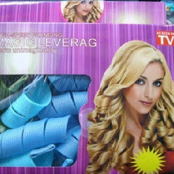 New 18 Pcs  Rapid Changing Magic Leverag Circle Hair Style Roller Curler = 5617156097
