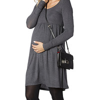 37.5 Beloved Anthracite Empire-Waist Maternity Dress