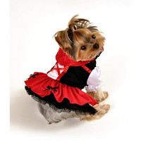 Red Hood Dress Dog Costume - Small