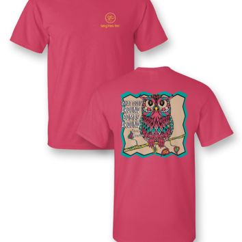 Sassy Frass Collection Karma Owl What Goes Around Comes Around Bright T Shirt