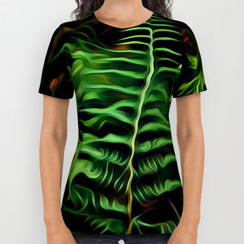 Ferns All Over Print Shirt by Stephen Linhart