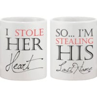 I Stole Her Heart So I'm Stealing His Last Name Matching Couple Mugs (Set)