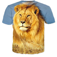 All printed Fierce Lion Shirt