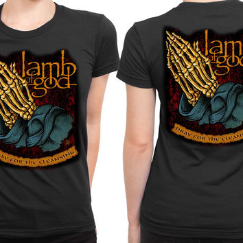 Lamb Of God Pray For The Cleansing 2 Sided Womens T Shirt