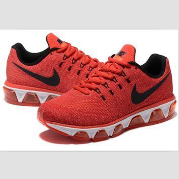 NIKE fashion knitted casual shoes sports running shoes Red