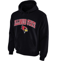 Illinois State Redbirds Midsize Arch Pullover Hoodie - Black