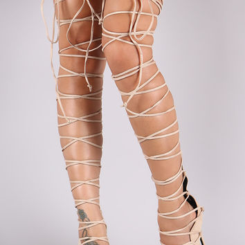 Best Thigh High Lace Heels Products on Wanelo