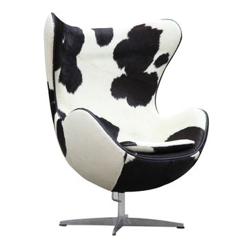 Inner Chair Pony Hide, Black and White