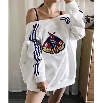 ADIDAS Originals Fashion Embroidery Cardigan Jacket Coat