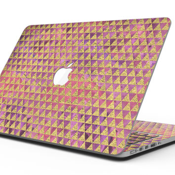 Micro Golden Triangles Over Pink Fumes - MacBook Pro with Retina Display Full-Coverage Skin Kit