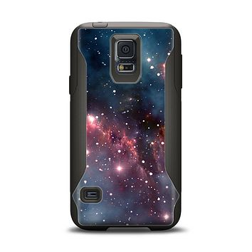 The Bright Pink Nebula Space Samsung Galaxy S5 Otterbox Commuter Case Skin Set