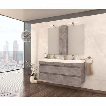 "DP Wall Bath Vanity Cabinet Set 47.2""Double Sink W/ Laminated Granite Finish -  Bathroom Vanities and Sink Consoles Series"