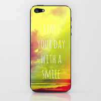 Start your day with a smile! iPhone & iPod Skin by Louise Machado
