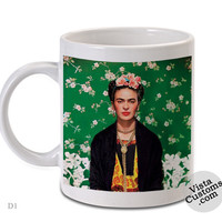 Frida Kahlo, Coffee mug coffee, Mug tea, Design for mug, Ceramic, Awesome, Good, Amazing