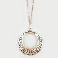 FULL TILT Geo Donut Necklace         212198621 | Necklaces | Tillys.com