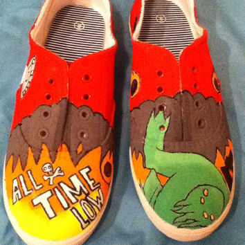 Don't Panic- All Time Low handpainted shoes