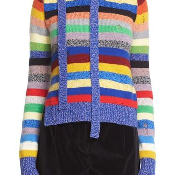 MARC JACOBS Stripe Cashmere Crewneck Sweater | Nordstrom